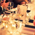 Elegant party at a fine dining restaurant dinner